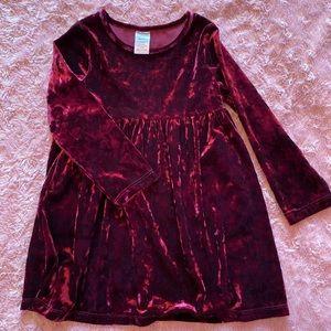 Toddler girls velvet dress